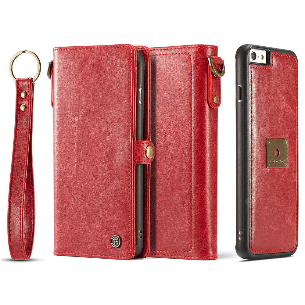 Pu Leather Wallet Phone Case Protective Folio Flip Cover with Removable Hand Straps Case for Iphone 6 Plus / 6S Plus