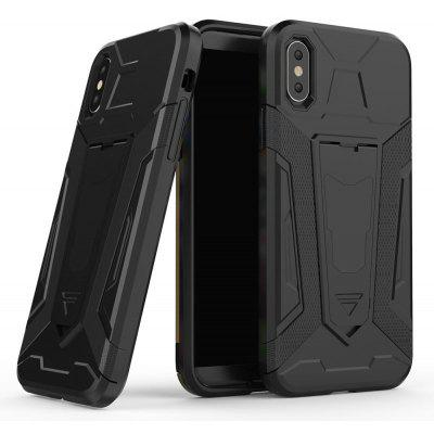 Hybrid Dual Layer Rugged Shockproof Drop Proof Hard Back Cover Pc with Slilcone Kickstand Protective Case for iPhone X
