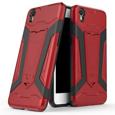 Hybrid Dual Layer Rugged Shockproof Drop Proof Hard Back Cover Pc with Slilcone Kickstand Protective Case for Oppo A37