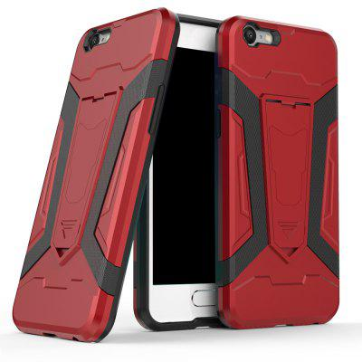 Hybrid Dual Layer Rugged Shockproof Drop Proof Hard Back Cover Pc with Slilcone Kickstand Protective Case for Oppo A57