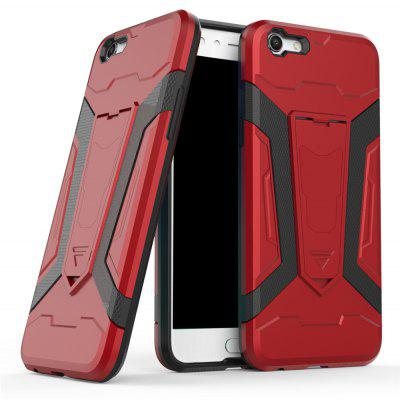 Hybrid Dual Layer Rugged Shockproof Drop Proof Hard Back Cover Pc with Slilcone Kickstand Protective Case for Oppo F3