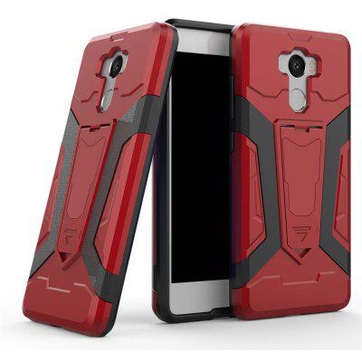 Hybrid Dual Layer Rugged Shockproof Drop Proof Hard Back Cover Pc with Slilcone Kickstand Protective Case for Redmi 4 Prime