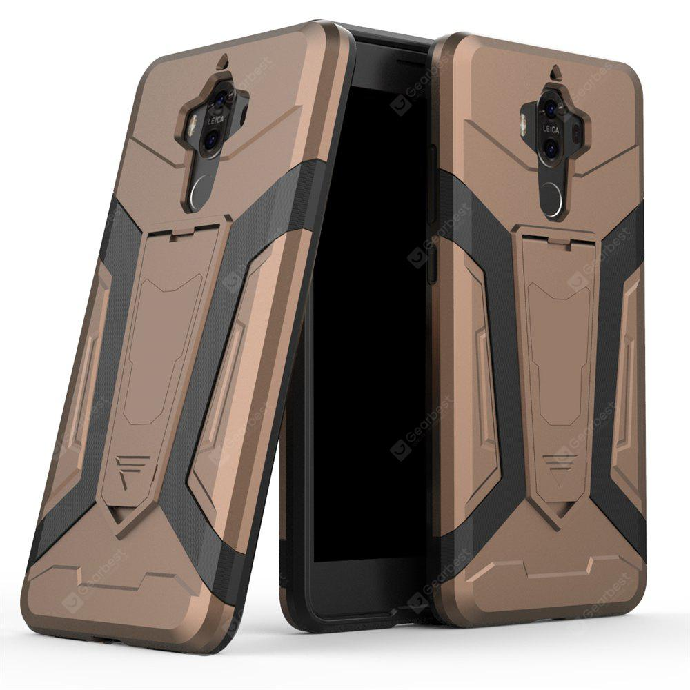 Hybrid Dual Layer Rugged Shockproof Drop Proof Hard Back Cover Pc with Slilcone Kickstand Protective Case for Huawei Mate 9
