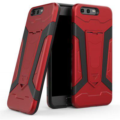 Hybrid Dual Layer Rugged Shockproof Drop Proof Hard Back Cover Pc with Slilcone Kickstand Protective Case for Huawei Honor P10