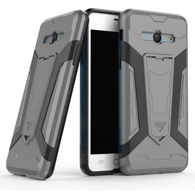 Buy Hybrid Dual Layer Rugged Shockproof Drop Proof Hard Back Cover Pc with Slilcone Kickstand Protective Case for Samsung Galaxy J5 2017, GRAY, Mobile Phones, Cell Phone Accessories, Samsung Accessories, Samsung J Series for $2.40 in GearBest store
