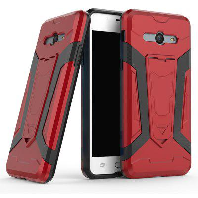 Buy Hybrid Dual Layer Rugged Shockproof Drop Proof Hard Back Cover Pc with Slilcone Kickstand Protective Case for Samsung Galaxy J5 2017, RED, Mobile Phones, Cell Phone Accessories, Samsung Accessories, Samsung J Series for $2.18 in GearBest store