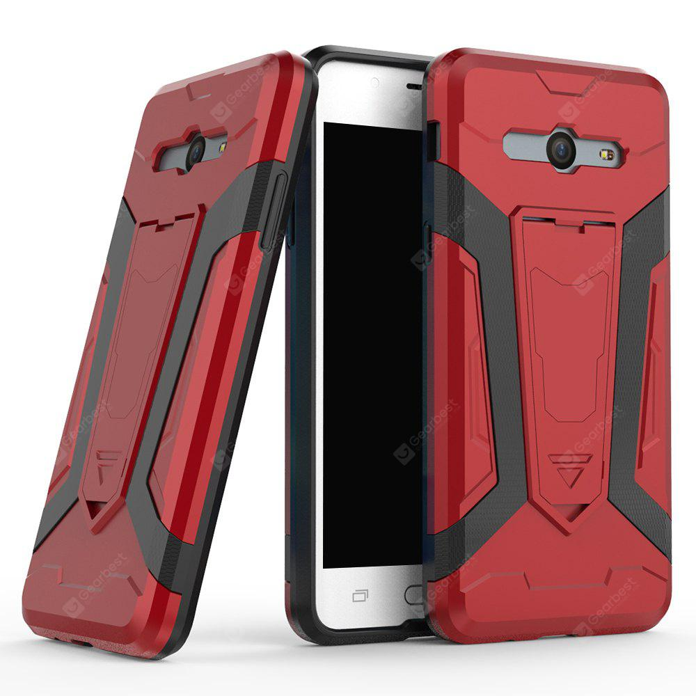 Hybrid Dual Layer Rugged Shockproof Drop Proof Hard Back Cover Pc with Slilcone Kickstand Protective Case for Samsung Galaxy J5 2017