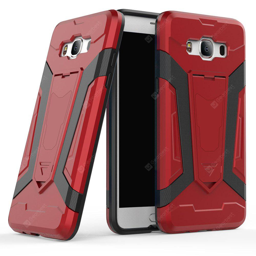 Hybrid Dual Layer Rugged Shockproof Drop Proof Hard Back Cover Pc with Slilcone Kickstand Protective Case for Samsung Galaxy J5 2016