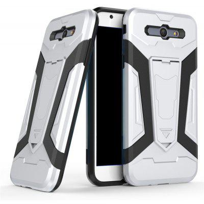 Buy Hybrid Dual Layer Rugged Shockproof Drop Proof Hard Back Cover Pc with Slilcone Kickstand Protective Case for Samsung Galaxy J7 2017, SILVER, Mobile Phones, Cell Phone Accessories, Samsung Accessories, Samsung J Series for $2.18 in GearBest store