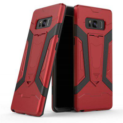 Hybrid Dual Layer Rugged Shockproof Drop Proof Hard Back Cover Pc with Slilcone Kickstand Protective Case for Samsung Galaxy Note 8