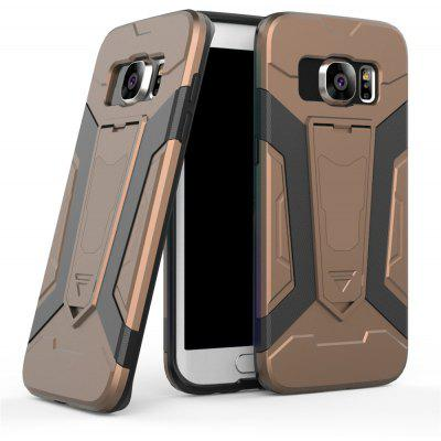 Buy Hybrid Dual Layer Rugged Shockproof Drop Proof Hard Back Cover Pc with Slilcone Kickstand Protective Case for Samsung Galaxy S7 Edge, BROWN, Mobile Phones, Cell Phone Accessories, Samsung Accessories, Samsung S Series for $2.18 in GearBest store