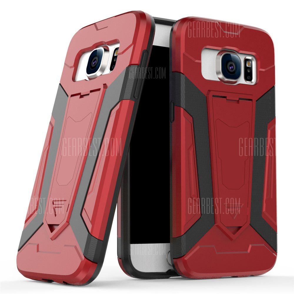Hybrid Dual Layer Rugged Shockproof Drop Proof Hard Back Cover Pc with Slilcone Kickstand Protective Case for Samsung Galaxy S7