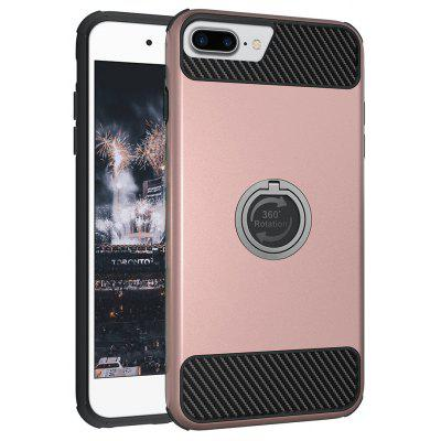 Rugged Rubber Heavy Duty Tough Dual Layer 2 In 1 360 Degree Rotating Ring Kickstand Protective Case for Iphone 6S Plus / 6 Plus