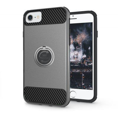Buy GRAY Rugged Rubber Heavy Duty Tough Dual Layer 2 In 1 360 Degree Rotating Ring Kickstand Protective Case for Iphone6s / 6 for $3.46 in GearBest store