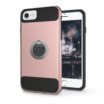 Buy ROSE GOLD Rugged Rubber Heavy Duty Tough Dual Layer 2 In 1 360 Degree Rotating Ring Kickstand Protective Case for Iphone6s / 6 for $3.46 in GearBest store