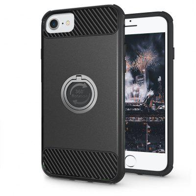 Buy BLACK Rugged Rubber Heavy Duty Tough Dual Layer 2 In 1 360 Degree Rotating Ring Kickstand Protective Case for Iphone6s / 6 for $3.46 in GearBest store