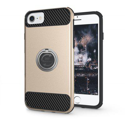 Buy 金色 Rugged Rubber Heavy Duty Tough Dual Layer 2 In 1 360 Degree Rotating Ring Kickstand Protective Case for Iphone6s / 6 for $3.46 in GearBest store
