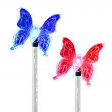2PCS Solar Color-changing Butterfly Outdoor Garden Stake Light