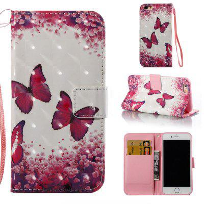 Buy COLORMIX Rose Butterfly 3D Painted Pu Phone Case for Iphone 6S 6 for $4.76 in GearBest store