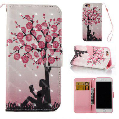 Buy COLORMIX Plum Tree Girl 3D Painted Pu Phone Case for Iphone 6S 6 for $4.76 in GearBest store