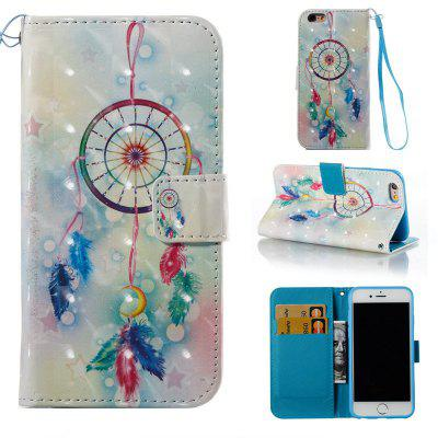 Buy COLORMIX Feather Wind Chimes 3D Painted Pu Phone Case for Iphone 6S 6 for $4.76 in GearBest store