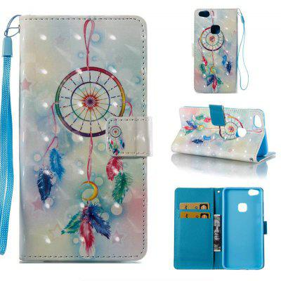 Buy COLORMIX Feather Wind Chimes 3D Painted Pu Phone Case for Huawei P10 Lite for $5.49 in GearBest store