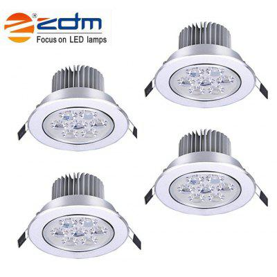 ZDM 4PCS 7W 700 - 750LM Dimmable LED Ceiling Lamps Warm / Cool / Natural AC 110/220V