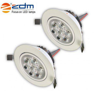 ZDM 2PCS 7W 750 - 850LM Dimmable Thick Radiator LED Ceiling Lamps Warm / Cool / Natural White AC110V / 220V