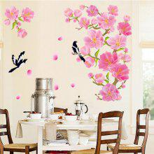 Peach Blossom Magpie The Wall Tv Background Decoration Paste Pvc