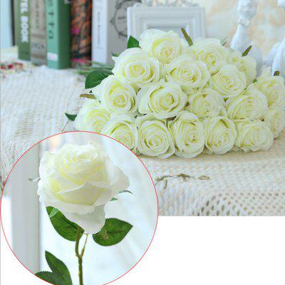 10 Branch Silk White Roses Wedding Party Decoration Home Decoration Artificial Flowers