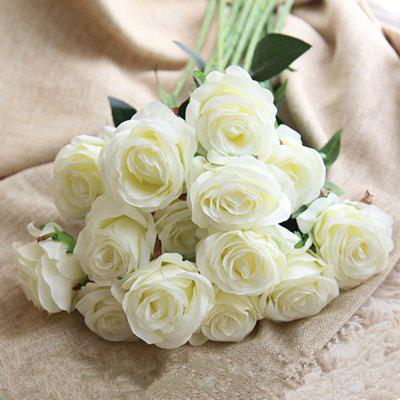 10 Branch Silk White Roses Wedding Party Decoration Home Decoration Artificial FlowersArtificial Flowers<br>10 Branch Silk White Roses Wedding Party Decoration Home Decoration Artificial Flowers<br><br>Branch Numbers: 10<br>Display Space: Tabletop Flower<br>Floral Type: Roses<br>Flower Materials: Silk<br>Package Contents: 10 x Branch of Artificial Flower<br>Package size (L x W x H): 55.00 x 30.00 x 15.00 cm / 21.65 x 11.81 x 5.91 inches<br>Package weight: 0.2600 kg<br>Style: Wedding