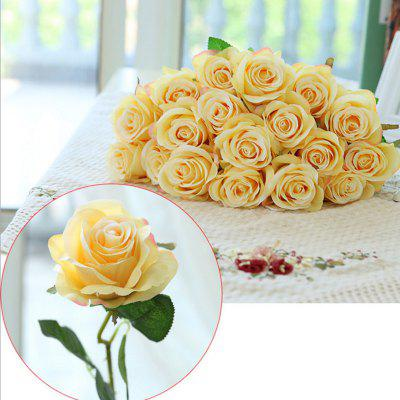 10 branch silk yellow roses wedding party decoration home decoration 10 branch silk yellow roses wedding party decoration home decoration artificial flowers mightylinksfo