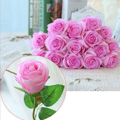 10 Branch Silk light Purple Roses Wedding Party Decoration Home Decoration Artificial Flowers