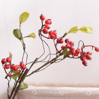 1 Branch High Simulation Red Fruit Home Decoration Artificial Flower