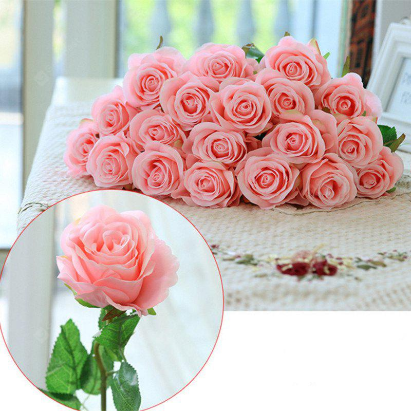 10 Branch Silk Light Pink Roses Wedding Party Decoration Home ...