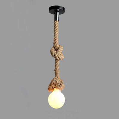Brightness Vintage Creative Multifunction Hemp Rope Pendant Lights 1 Light Diy Art Dining Room The Cafe Bar Counter Chandeliers Cord Length 100CM