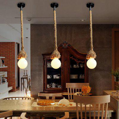 Brightness Vintage Creative Multifunction Hemp Rope Pendant Lights 1 Light Diy Art Dining Room The Cafe Bar Counter Chandeliers Cord Length 100CMPendant Light<br>Brightness Vintage Creative Multifunction Hemp Rope Pendant Lights 1 Light Diy Art Dining Room The Cafe Bar Counter Chandeliers Cord Length 100CM<br><br>Bulb Base: E27,E26<br>Bulb Included: No, No<br>Bulb Type: Incandescent, Incandescent<br>Chain / Cord Length ( CM ): 100, 100<br>Features: Mini Style, Mini Style<br>Finish: Others, Others<br>Fixture Height ( CM ): 100, 100<br>Fixture Length ( CM ): 5, 5<br>Fixture Width ( CM ): 5, 5<br>Light Direction: Ambient Light, Ambient Light<br>Number of Bulb: 1 Bulb<br>Number of Bulb Sockets: 1<br>Package Contents: 1 x Light, 1 x Assembly Part, 1 x Light, 1 x Assembly Part<br>Package size (L x W x H): 15.00 x 15.00 x 15.00 cm / 5.91 x 5.91 x 5.91 inches, 15.00 x 15.00 x 15.00 cm / 5.91 x 5.91 x 5.91 inches<br>Package weight: 0.5600 kg, 0.5600 kg<br>Shade Material: No<br>Style: Vintage antique, Simple Style, Simple Style, Vintage antique, Country, Country<br>Suggested Room Size: 0 - 5?<br>Suggested Space Fit: Living Room,Bedroom,Dining Room,Office,Cafes,Garage,Entry,Kitchen,Hallway,Game Room,Indoors,Study Room, Living Room,Bedroom,Dining Room,Office,Cafes,Garage,Entry,Kitchen,Hallway,Game Room,Indoors,Study Room<br>Type: Ceiling Light, Pendant Light, Retro<br>Voltage ( V ): 220 - 240,110-120, 220 - 240,110-120<br>Wattage per Bulb ( W ): 60, 60
