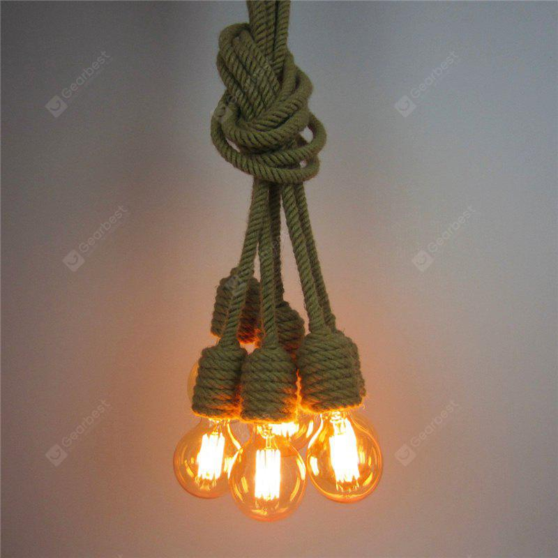 CLEMENTINE Cxylight, Cxylight Simple Creative Personality of American Country Style Retro Rope Bedroom Restaurant Chandelier Dd-012