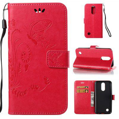 Buy ROSE RED Wkae Flowers Embossing Pattern Pu Leather Flip Stand Case Cover for Lg K10 2017 for $5.78 in GearBest store