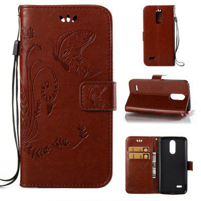 Buy DEEP BROWN Wkae Flowers Embossing Pattern PU Leather Flip Stand Case Cover for K8 2017 European Edition for $5.78 in GearBest store