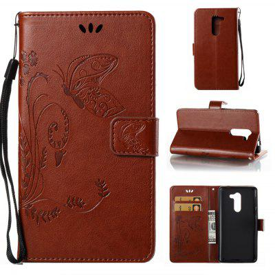 Buy DEEP BROWN Wkae Flowers Embossing Pattern PU Leather Flip Stand Case Cover for Huawei GR5 2017 for $5.78 in GearBest store