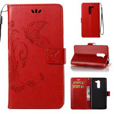 Buy RED Wkae Flowers Embossing Pattern PU Leather Flip Stand Case Cover for Huawei GR5 2017 for $5.78 in GearBest store