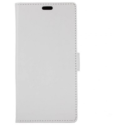 Buy WHITE Kazine Crazy Horse Texture Leather Wallet Case for Alcatel flash Plus 2 for $2.99 in GearBest store