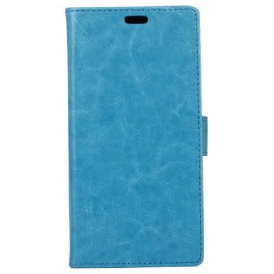 Buy BLUE Kazine Crazy Horse Texture Leather Wallet Case for Alcatel I Dol x for $2.99 in GearBest store