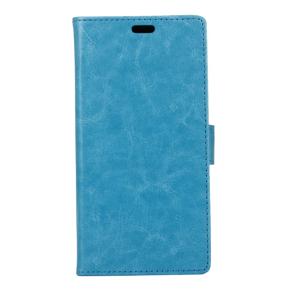 BLUE Kazine Crazy Horse Texture Leather Wallet Case for Alcatel i Dol 3 5.5