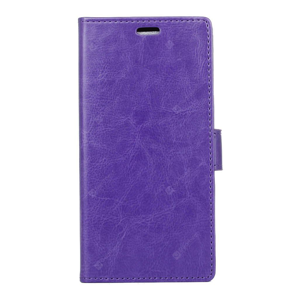 PURPLE Kazine Crazy Horse Texture Leather Wallet Case for Alcatel i Dol 3 5.5