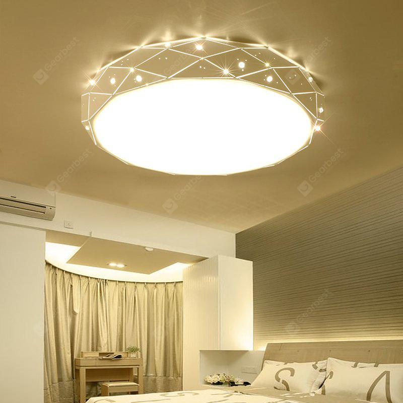Everflower modern simple led flush mount ceiling light with max 24w painted finish white color