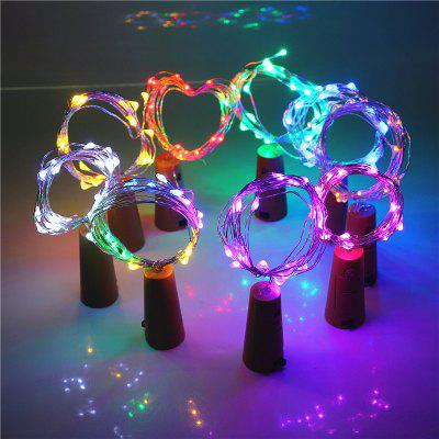 Jueja Multicolor LED Sliver Wire String Light with Bottle Stopper for Glass Craft Valentines Wedding Decoration Lamp Party