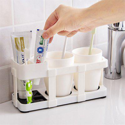 Creative Bathroom Lovers Gargle Toothbrush Storage Rack