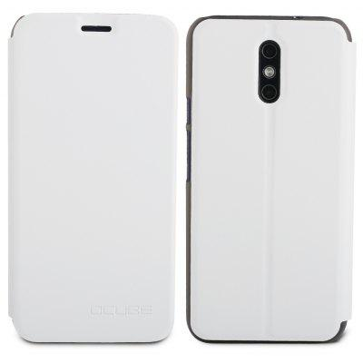 Buy WHITE Ocube Flip Folio Stand Up Holder Pu Leather Case Cover for Doogee Bl5000 Cellphone for $5.14 in GearBest store